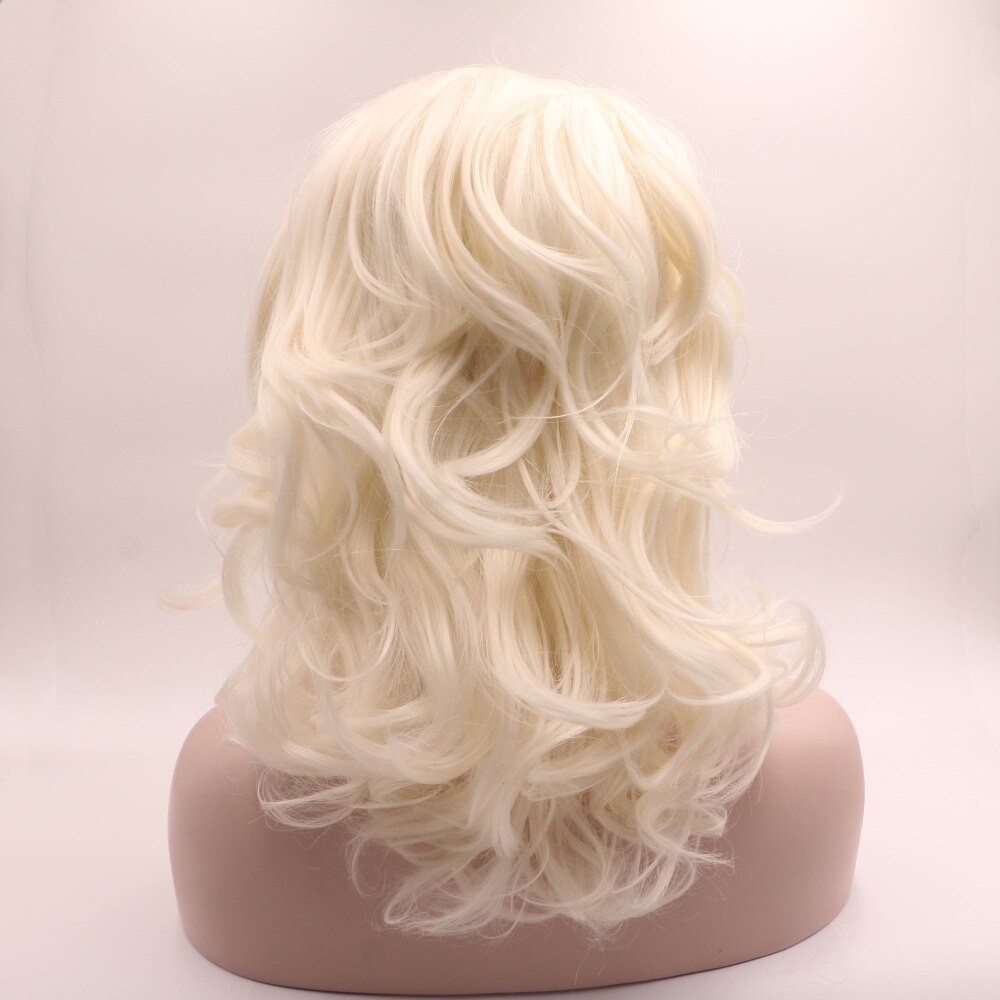 Ladiesstar Natural Looking Half Hand Tied Platinum Blonde Heat Resistant Fiber Synthetic Lace Front Blonde Bob Wig For Women/Free Shipping