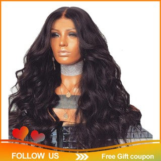?Ready Stock?Brazilian Remy Human Hair Body Wave Lace Front Human Hair Wigs