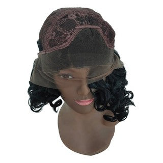 Black Women Curly Wig Sexy Short Lace Wigs Synthetic Wavy Fashion Lace Front Wig