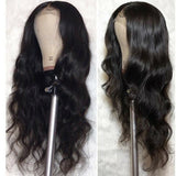 Mellow Lace Frontal 100% Human Hair Wigs Pre Plucked Body Wave Lace Front Wigs 150% Density Peruvian Wigs For Black Human/Free Shipping