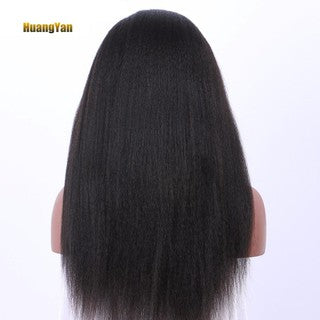 HY Kinky Yaki Straight Lace Front Long Wig Women Girl Natural Looking Party Wig/Free Shipping
