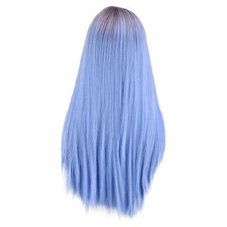 Natural Lace Front Synthetic Wig Fashion Women Mixed Purple Straight Long Wig/Free Shipping