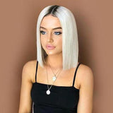 Short platinum blonde bob Wig for black girl/Free Shipping