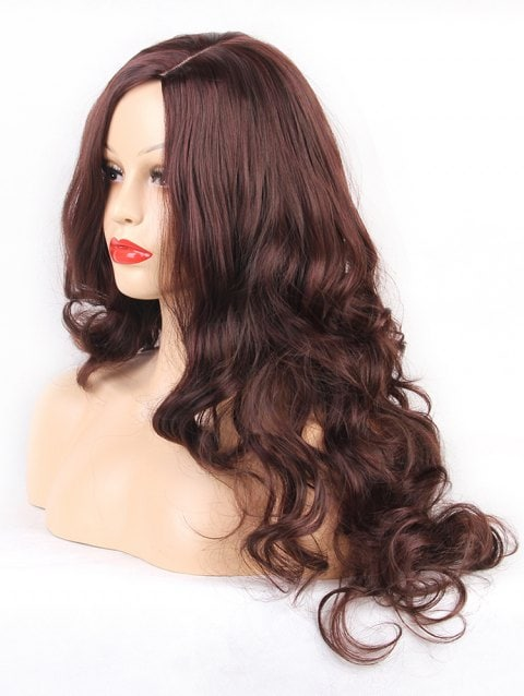 Foxwigs Lace Front Wigs Long Side Part Loose Curly Hair Wig