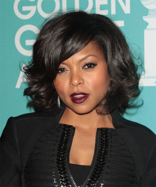 Wigsfox 14  Straight Wigs For African American Women The Same As The Hairstyle In The Picture