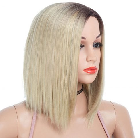 Partial Distribution Type Dyeing Short Straight Wig
