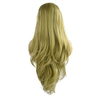 Curly Wig Glueless Lace Wigs Green Women Indian Remy Human Hair Lace Front