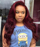 Wigsfox 12  Wavy With Bangs Wigs For African American Women The Same As The Hairstyle In The Picture