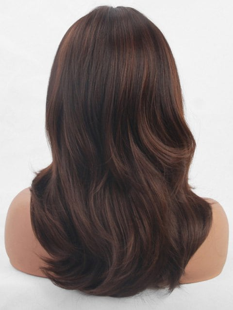 Foxwigs Lace Front Wigs Medium Side Bang Natural Wave Hair Wig/Free Shipping