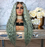Ombre Balayage Medium Brown Lace Front Wigs For Wedding