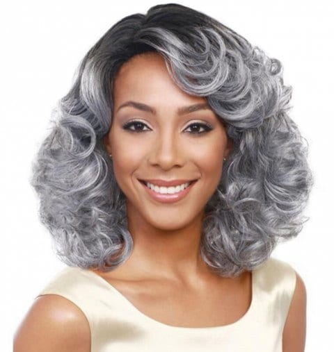 Fluffy Wave Curl Medium Wig