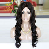U-part Lace Front Wig Nautral Black Body Wave Hair For Black Women