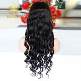 U-part Lace Front Wig Nautral Black Body Wave Hair For Black Women/Free Shipping