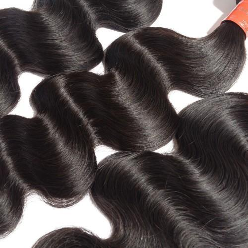 Body Wavy Diamond 8A Virgin Malaysian Hair Natural Black 100g/Free Shipping