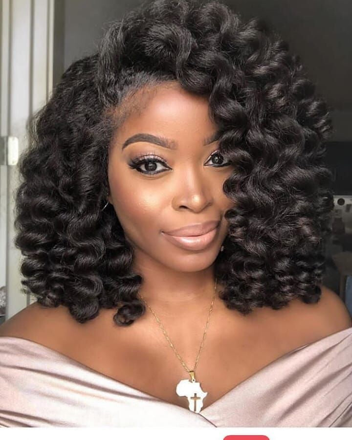 Wigsfox 10 Short Curl Lace Wigs For African American Women/Free Shipping