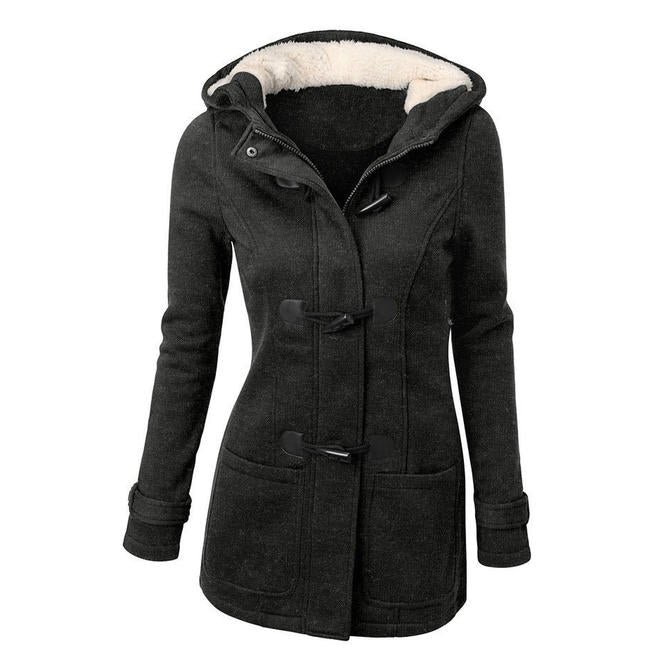 Women Fashion Wool Comfortable Jacket Sweater Blended Classic Sweater Pea Coat Plus Size/Free Shiping
