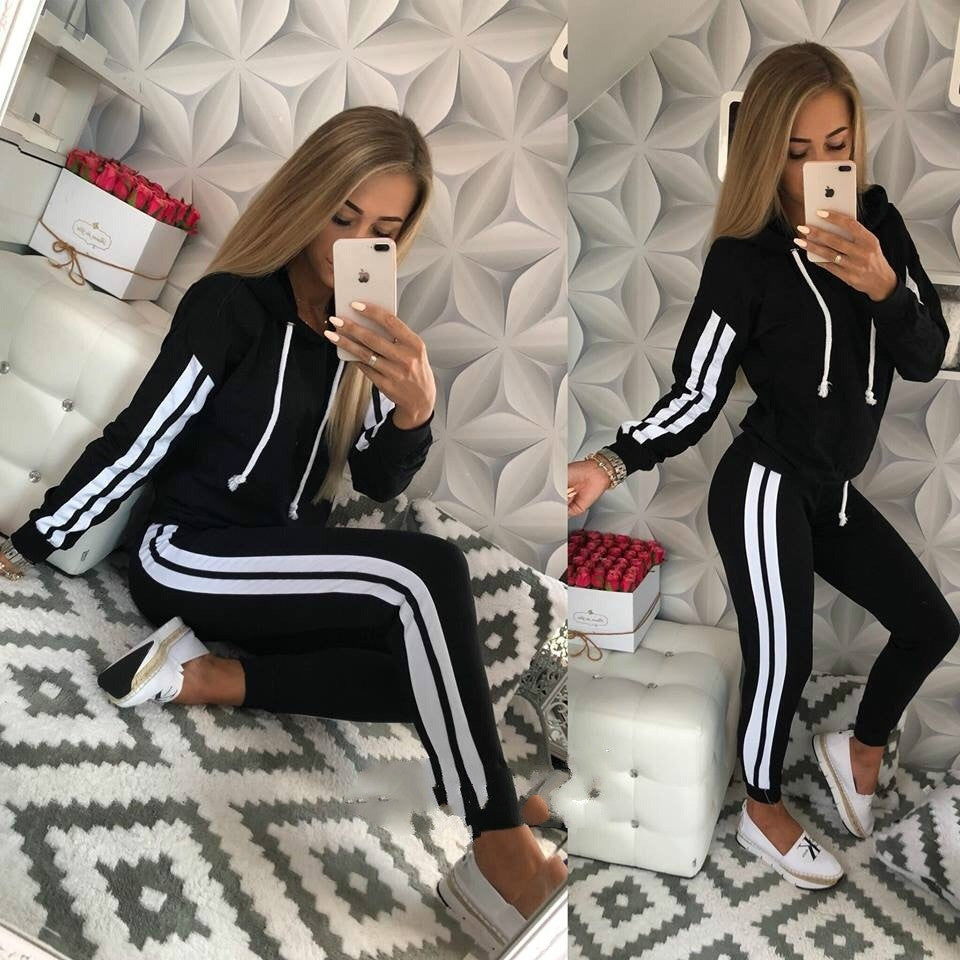 Women's Tracksuit Set Elegant Pencil Hoodie Sweatsuits Pants Spring Winter Series Tracksuits/Free Shipping