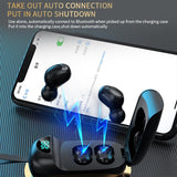 2 Colors Sports Mini Bluetooth 5.0 Wireless Headset TWS In-Ear Digital Display Headphones/Free Shipping