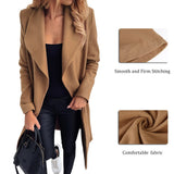 Women  Casual Slim Thick Solid Color Streetwear Bandage Long Sleeve Coat Plus Size/Free Shipping