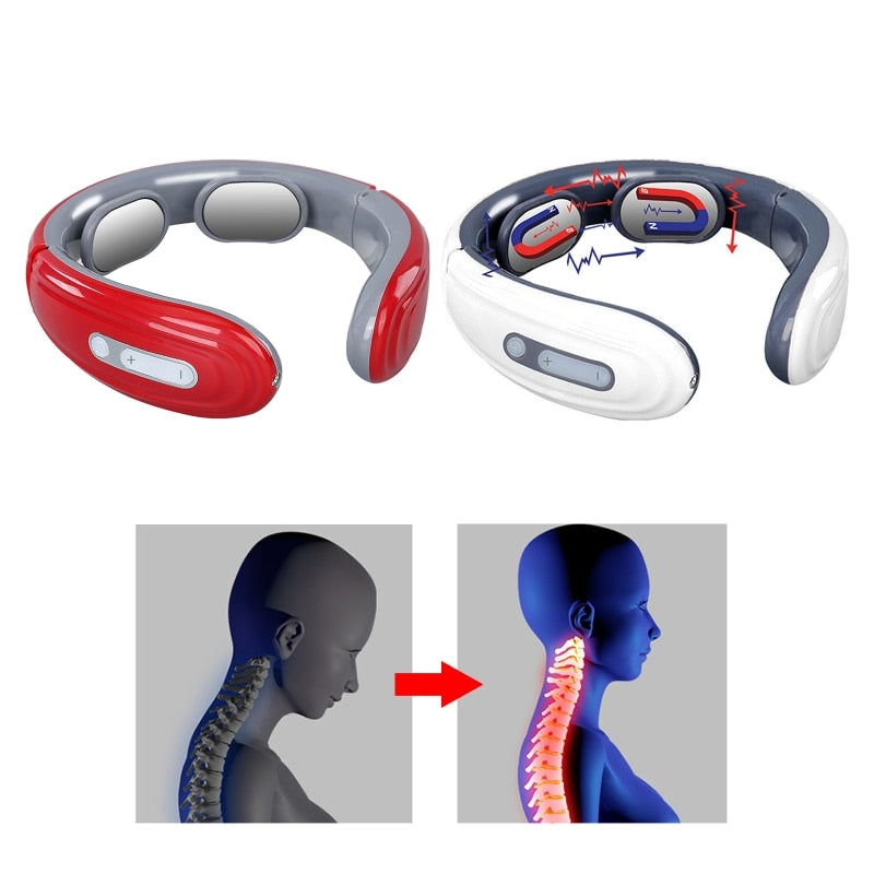 Cervical Massage Instrument Intelligent Heating Pulse Neck For Office/Home/Car/Free Shipping