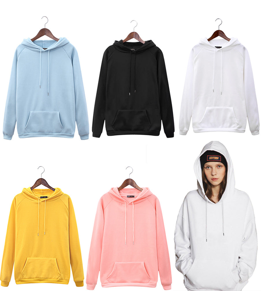 Autumn And Winter Solid Kpop Hoodies Warm Hooded Pullover Sweatshirts For Women/Free Shipping