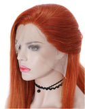 26'' Natural Straight Lace Front Wig Light Orange Handtied Hair/Free Shipping