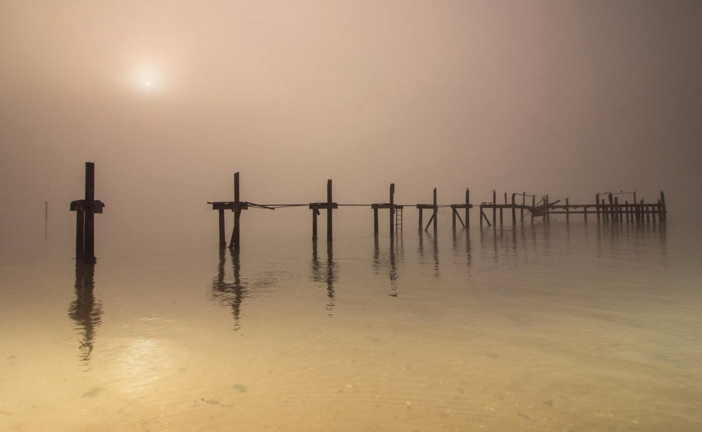 A foggy Poole Harbour by Rachel Baker @Saintsmadmomma