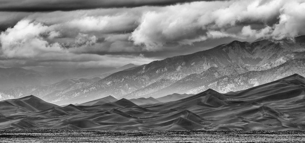 Clearing storm over the Great Sand Dunes National Park and Preserve in southern Colorado by Stephen Lee @darkglassphoto