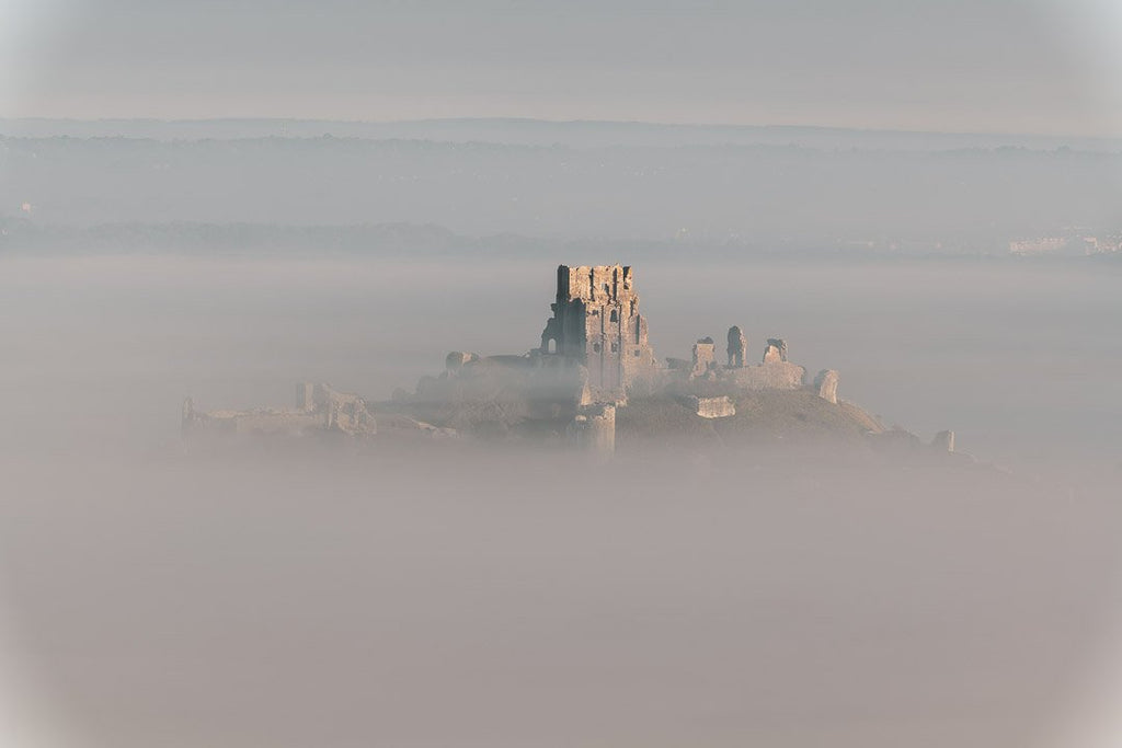 1st Place Emerging from the fog - Corfe Castle, Dorset by Andy Lyons @Lyonsphotos_uk