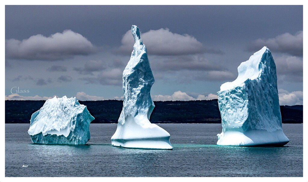 Iceberg in Upper Amherst Cove, Bonavista, Newfoundland by Glass Photography @GlassFotos