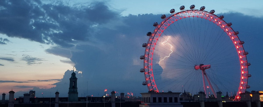 Lightning at dusk. London. by Stephen Prout @proutstephen