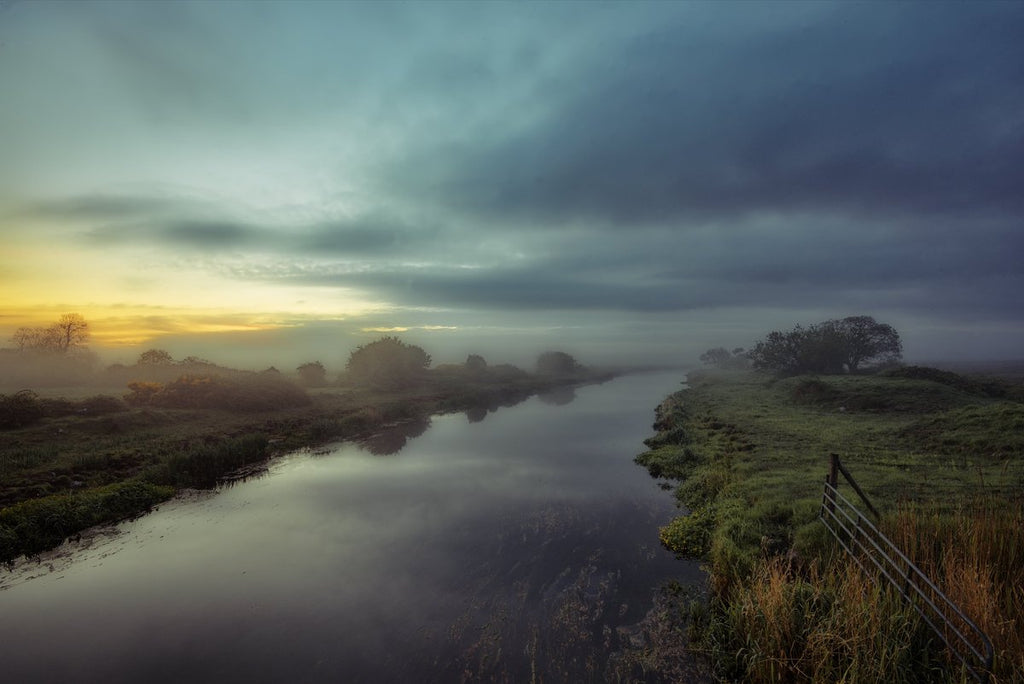 Sunrise on a misty morning. Clare river in Galway, Ireland by WoodRoad Photography @woodroadphotos