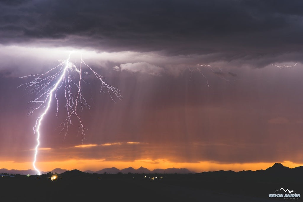 1st Place Sunset bolt from Maricopa, Arizona by Bryan Snider @BryanSnider