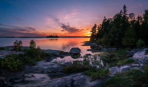 2nd Place sunset view from a small island in Northwest Ontario by Gordon Pusnik @gordonpusnik