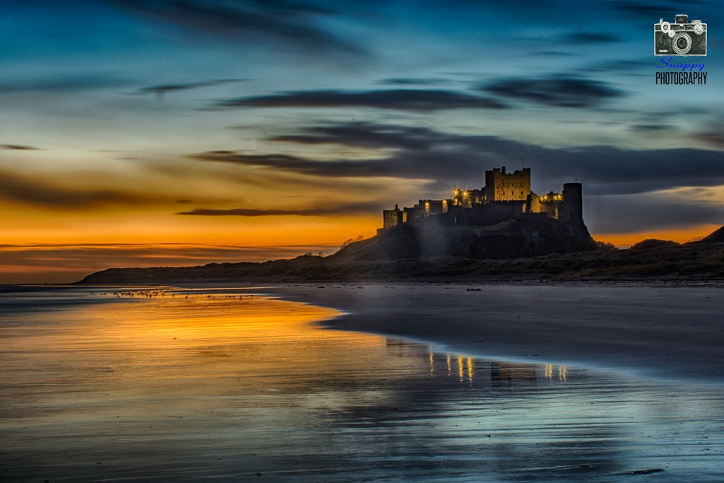 3rd Place Bamburgh Castle Sunrise by Coastal Portraits @johndefatkin