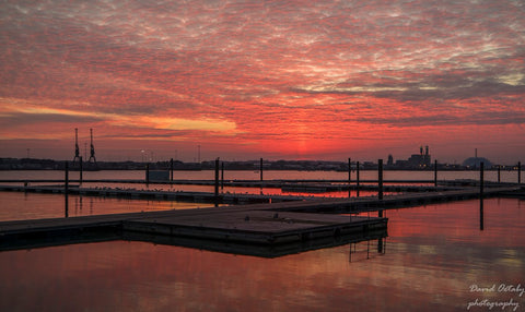 3rd Place Southampton harbour sunset by DavidOxtaby @Dave3072