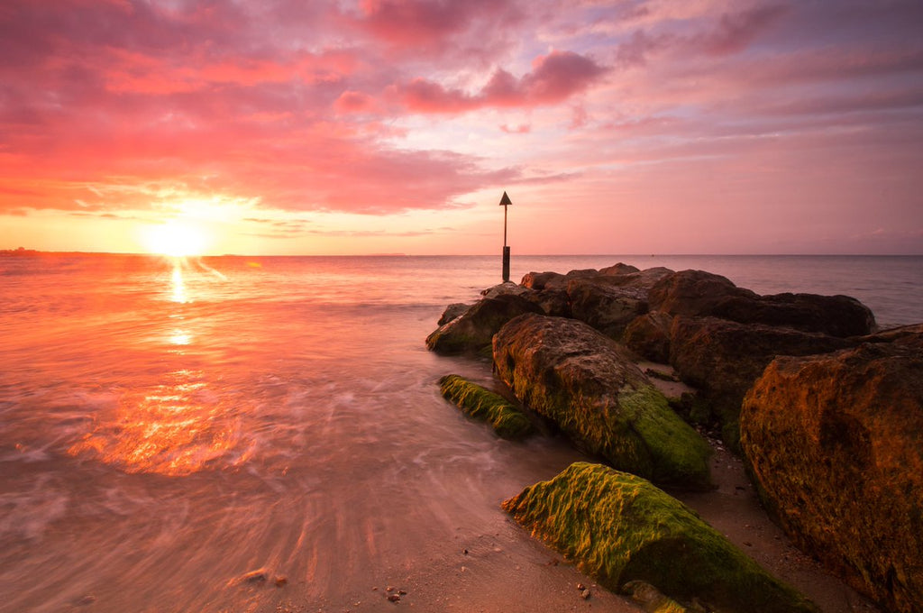 3rd Place Stunning sunrise over Sandbanks beach in Poole by Rachel Baker @Saintsmadmomma
