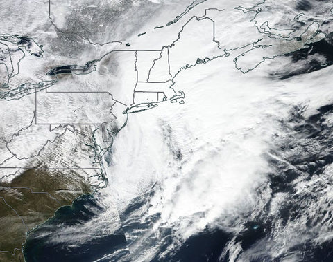 February 2017 North American blizzard Image courtesy of NASA and Wiki