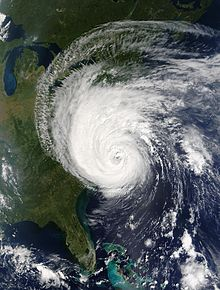 Hurricane Isabel making landfall in North Carolina on September 18