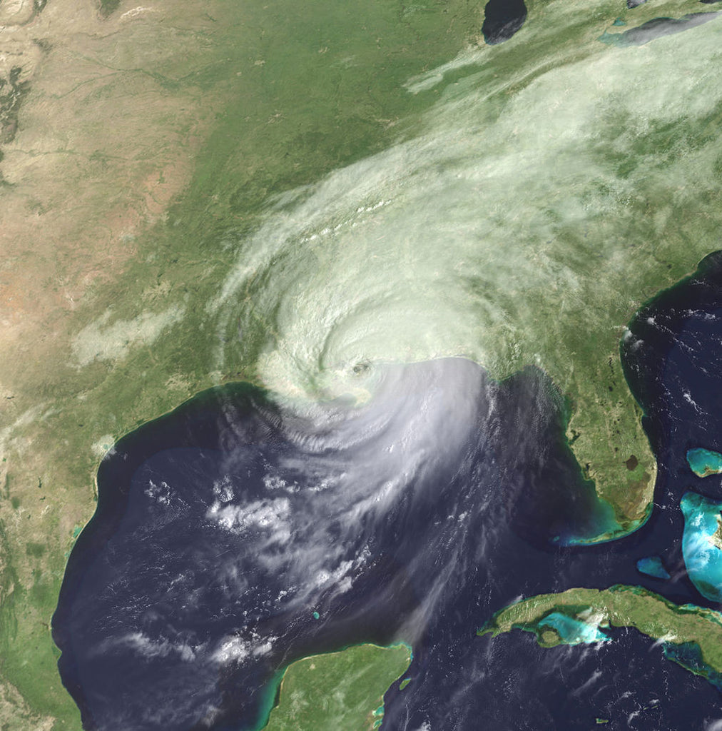 Hurricane Katrina Making Landfall in New Orleans