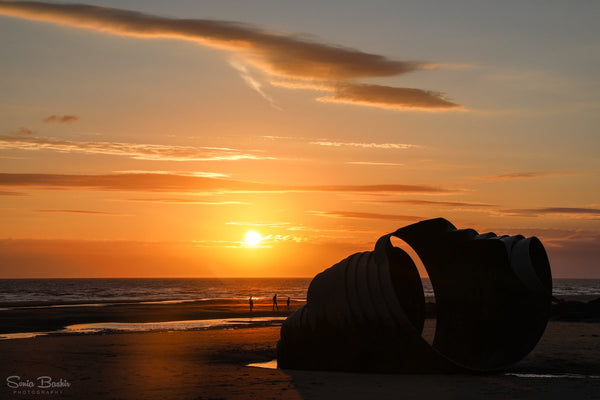 Mary's Shell at sunset, Cleveleys by Sonia Bashir @SoniaBashir_