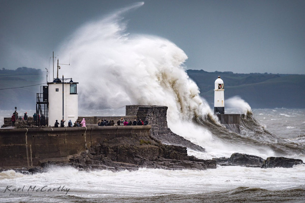 Spectators in awe as Storm Callum hits Porthcawl by Karl McCarthy @McCarthyKarl