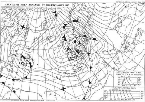 synoptic chart from 'Great Storm' 16 Oct 1987