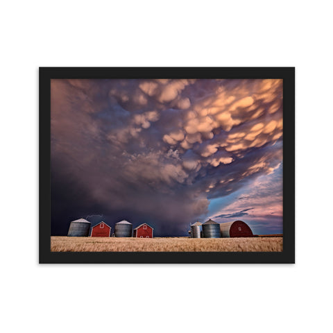 Major Mammatus Clouds over Saskatchewan - Framed Print by Mark Duffy