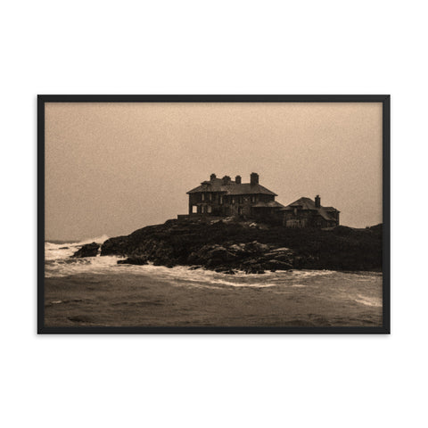 'Safe House' at Trearddur Bay - Sepia Framed Print