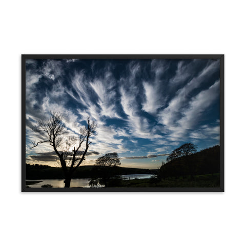 Feathered Cirrus at Sunset - Framed Print by Mark Boardman