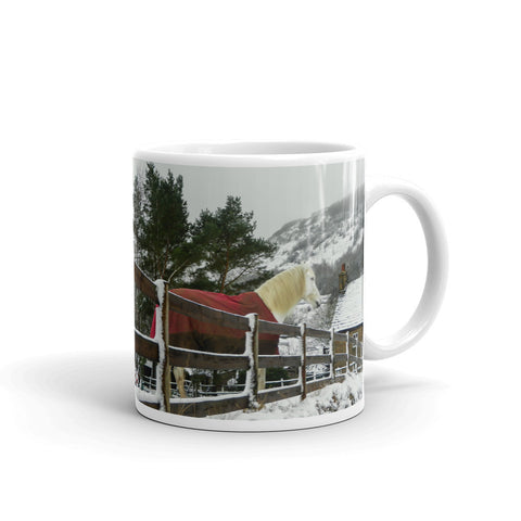 Mugs by StormHour - Red Coated Horse - Keeping Warm in the Snow