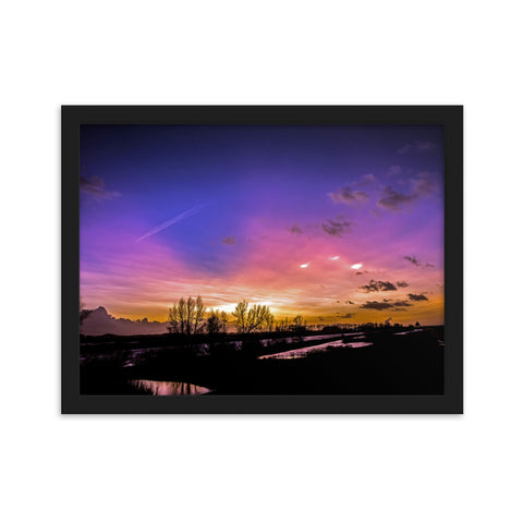 A Dutch Sunset - Parelmoer - Framed Print by Glenn Aoys