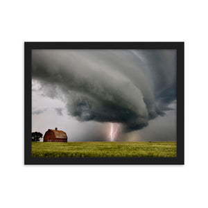 Shelf Cloud and Lightning Framed Poster by Mark Duffy