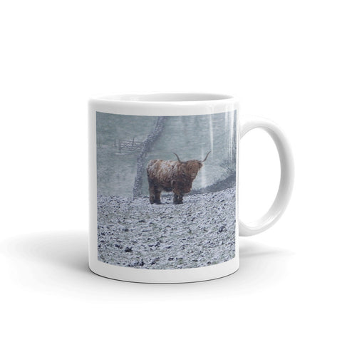 Bull In a Blizzard Mug by StormHour